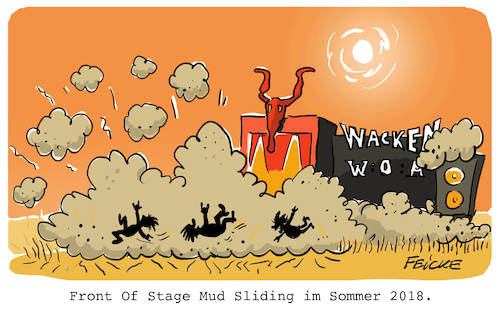 Mud Sliding in Wacken
