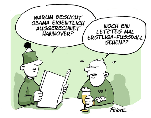 Cartoon: Obama in Hannover (medium) by FEICKE tagged obama,cebit,hannover,besuch,messe,ttip,fussball,fußball,96,abstieg,bundesliga,obama,cebit,hannover,besuch,messe,ttip,fussball,fußball,96,abstieg,bundesliga