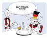Cartoon: Appetit (small) by FEICKE tagged wm,fussball,weltmeisterschaft,finale,brasilien,argentinien,deutschland,essen,restaurant,fan,feicke