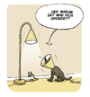 Cartoon: Hunde OP (small) by FEICKE tagged hund,operation,krause,kratz,schutz,tier,haustier,lampe,feicke,tierarzt,veterinär