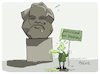 Cartoon: Marxdenkmal (small) by FEICKE tagged chemnitz,nazi,demo,karl,marx,antifaschist