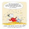 Cartoon: Meine erste Milllion (small) by FEICKE tagged toonpool,million,feicke,freu,dagobert,duck