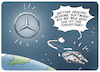 Cartoon: Mercedes Todesstern (small) by FEICKE tagged mercedes,benz,daimler,umwelt,klima,diesel,abgas,skandal,software,betrug,straftat,star,wars,todesstern