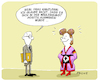 Cartoon: Merkel ESC (small) by FEICKE tagged merkel,bundeskanzler,deutschland,netta,israel,frisur