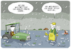 Cartoon: Mistwetter (small) by FEICKE tagged klima,wandel,regen,winter,landwirtschaft,unwetter,ernte,bauer