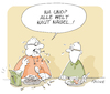 Cartoon: Nägel (small) by FEICKE tagged wortspiel,nagel,finger,essen