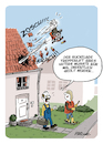 Cartoon: Treppenlift (small) by FEICKE tagged lift,alter,senior,rentner,pflege