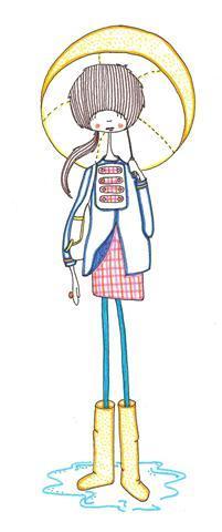 Cartoon: Rain (medium) by maicen tagged illustration,drawing,art,girl,maicen,fashion,pattern