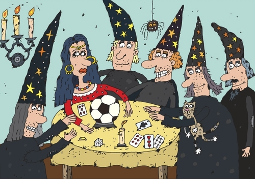 Cartoon: The Magic Ball (medium) by belozerov tagged magic,soccer,football,ball