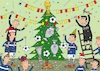 Cartoon: football new year (small) by belozerov tagged sport,fußball,football,winter,tree,decoration,christmas,cup,card,referee