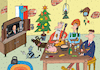 Cartoon: Happy Russian New Year (small) by Sergei Belozerov tagged russia,putin,tv,2020,balalaika,holiday,party,family,tradition,food,christmas,moscow