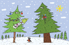 Cartoon: Newborn New Years Tree (small) by belozerov tagged newborn,new,year,tree,holiday,christmas,baby,family,winter