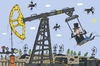 Cartoon: The Swing (small) by Sergei Belozerov tagged swing,oil,derrick,petroleum,schaukel