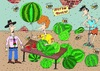 Cartoon: watermelon (small) by belozerov tagged watermelon
