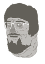 Cartoon: a friend (small) by jannis tagged portrait