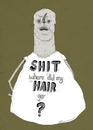 Cartoon: where did my hair go? (small) by jannis tagged people