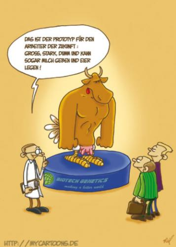 Cartoon: Arbeitstier (medium) by mil tagged cartoon,arbeit,tier,mil