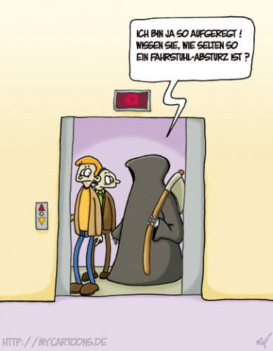 Cartoon: Der Tod fährt mit (medium) by mil tagged cartoon,tod,mil
