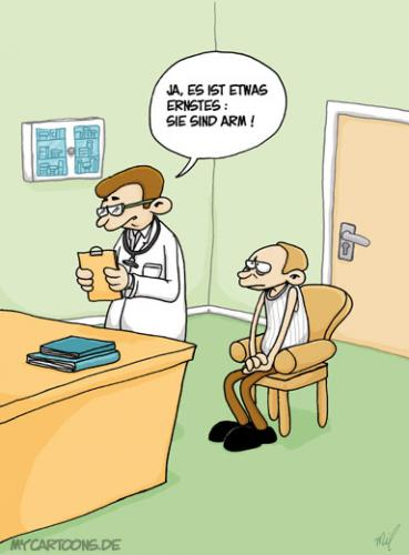 Cartoon: Ernste Diagnose (medium) by mil tagged arzt,diagnose,krankheit,mil