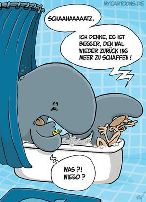 Walfuhlbad By Mil Nature Cartoon Toonpool
