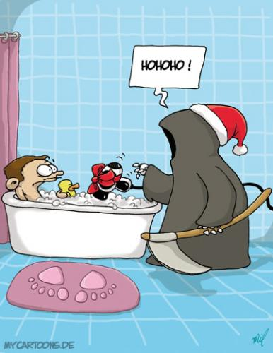 Cartoon: Weihnachtstod (medium) by mil tagged christmas,tod,mil