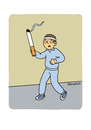 Cartoon: No Smoking 3 (small) by Vhrsti tagged smoking,cigarettes,run,jogging,sport