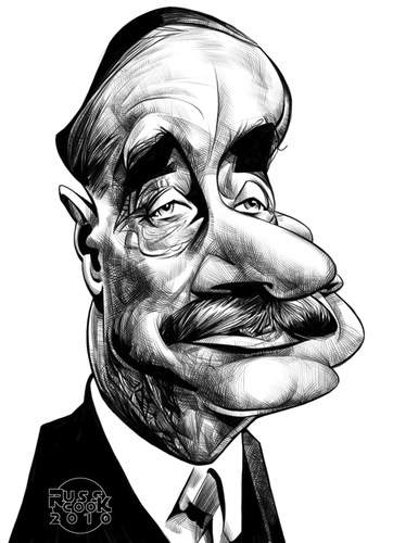 Cartoon: H.G. Wells (medium) by Russ Cook tagged caricatures,karikaturen,karikatur,zeichnung,illustration,art,caricature,drawing,author,fiction,science,writer,cook,russ,wells
