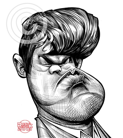Cartoon: Magnus Carlsen (medium) by Russ Cook tagged norway,norwegian,caricature,russ,cook,digital,art,portrait,magnus,carlsen,chess,sketchbook,pro