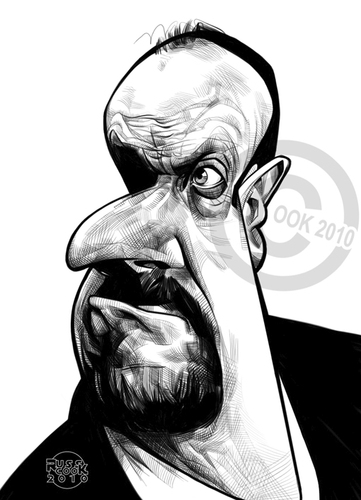 Cartoon: Rafael Rafa Benitez (medium) by Russ Cook tagged drawing,sketch,wacom,digital,cook,russ,rafa,spanish,madrid,spain,liverpoolmanager,league,division,premier,soccer,football,england