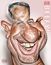 Cartoon: Ian Botham - In Colour! (small) by Russ Cook tagged sir,ian,botham,beefy,cricket,cricketer,batsman,sport,england,somerset,bowler,test,match,ashes,drugs,walking,charity,cartoon,caricature,caricatures,illustration,digital,drawing,paint,airbrush,wacom,cintiq,photoshop,russ,cook,head,face