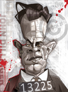 Cartoon: John Dillinger (small) by Russ Cook tagged john,dillinger,russ,cook,caricature,vector,illustration,gangster,cartoon,digital,american,karikatur,karikaturen,famous,celebrity
