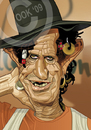 Cartoon: Keith Richards (small) by Russ Cook tagged keith,richards,rolling,stones,russ,cook,zeichnung,karikatur,karikaturen,celebrity,music,rock,and,roll,guitar,caricature,illustration,stone