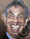 Cartoon: Tony Blair (small) by Russ Cook tagged tony,blair,labour,prime,minister,russ,cook,uk,united,kingdom,painting,karikatur,karikaturen,zeichnung,acrylic,canvas,politics
