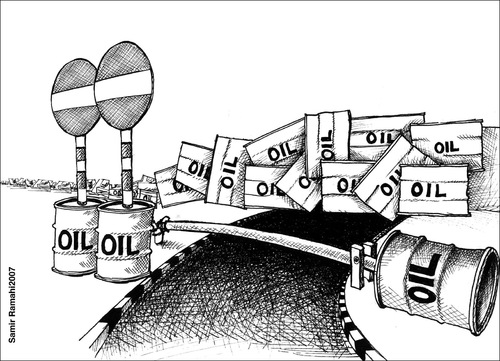 Cartoon: petro arab borders (medium) by samir alramahi tagged petro,arab,borders,ramahi,politics,cartoon