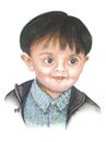 Cartoon: A child with smart eyes (small) by samir alramahi tagged child smart eyes arab ramahi cartoon zayed portrait