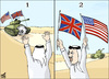 Cartoon: arabs flags (small) by samir alramahi tagged arab,flag,positions,ramahi,cartoon,scors,football,usa