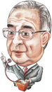 Cartoon: D. Mamdouh Abbadi of jordan (small) by samir alramahi tagged mamdouh abbadi jordan arab ramahi cartoon portrait