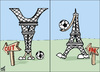 Cartoon: france in. france out (small) by samir alramahi tagged france,world,cup,football,south,africa