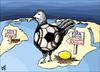 Cartoon: golden egg (small) by samir alramahi tagged football,south,africa,ramahi,cartoon,arab