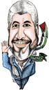Cartoon: Khaled Meshaal of HAMAS (small) by samir alramahi tagged palestine,hamas,jprdan,kuwait,islamic,movment,ramahincartoon,portrait