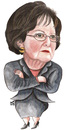 Cartoon: Leila Sharaf of jordan (small) by samir alramahi tagged leila sharaf jordan arab ramahi cartoon portrait