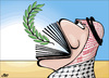 Cartoon: My Book is yours (small) by samir alramahi tagged jordan,arab,refugee,camps,slums,ramahi,children,palestine,library,hana,ramli,volunteers,face,book