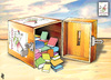 Cartoon: My Book is yours02 (small) by samir alramahi tagged jordan,arab,refugee,camps,slums,ramahi,children,palestine,library,hana,ramli,volunteers,face,book
