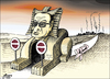 Cartoon: path to gaza (small) by samir alramahi tagged gaza,war,arb,mubarak,egypt,ramahi