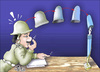 Cartoon: Police and ideas (small) by samir alramahi tagged police,ideas,freedom,arab,ramahi,jordan