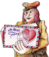 Cartoon: Postman (small) by samir alramahi tagged love,valentine,postman,amman,jordan