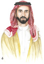 Cartoon: Prince Ghazi of Jordan (small) by samir alramahi tagged prince ghazi jordan arab scarf ramahi cartoon portrait