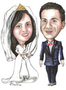 Cartoon: summer weding 2 (small) by samir alramahi tagged ssummer,weding,ramahi,cartoon,jordan,arab,portrait