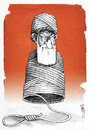 Cartoon: Iranian supreme leader (small) by Kianoush tagged executions,islamic,republic,iran