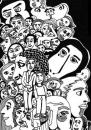 Cartoon: Menschen (small) by bona tagged many,people,men,women